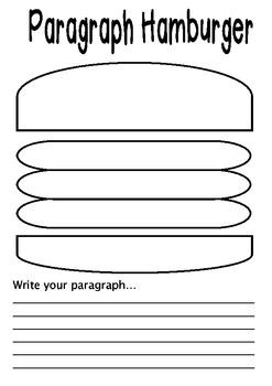 Paragraphs with hamburger graphic organiser