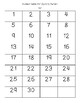 Paraguay Flag Hundred Chart Mystery Picture with Number Cards