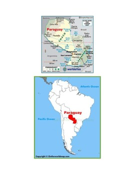 Paraguay Map Scavenger Hunt