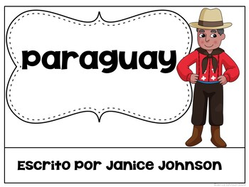 Paraguay Reader & vocab pages in English & Spanish {Bilingual bundle}
