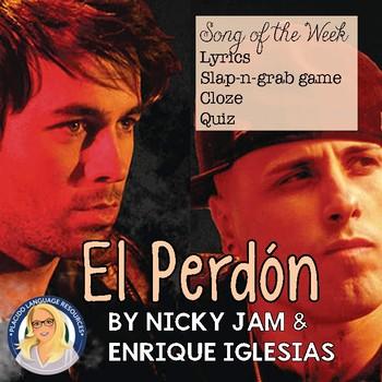 El Perdon Spanish Song Activities Packet