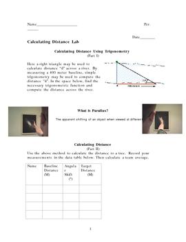 Parallax Lab (Astronomy Trigonometry Stars Physics)
