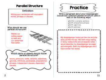 Parallel Structure Mini Book