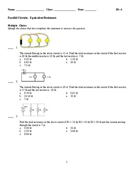 Parallel Circuits - Equivalent Resistance