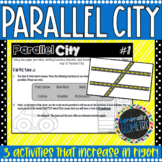 Parallel City, A Parallel Lines and Transversals Map Activity; Geometry