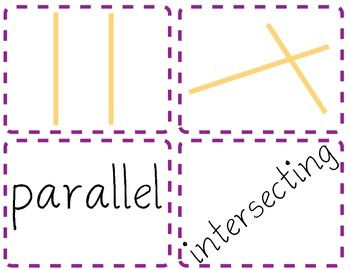 math worksheet : intersecting and perpendicular lines flash cards matching game : Parallel Intersecting And Perpendicular Lines