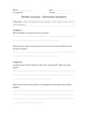 Parallel Journeys Discussion Questions & Answers Holocaust Unit