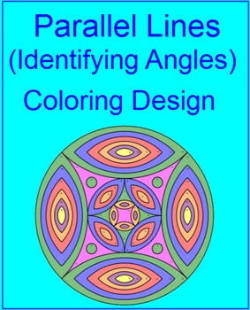 Parallel Line Angle Pairs (Identifying) Coloring Activity