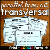 Parallel Lines Cut by a Transversal Tasks - print and digital