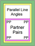Parallel Line Angles (Partner Pairs) with 6 Exit tickets