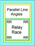 Parallel Line Angles - RELAY RACE GAME (Groups 2 or 4) 8 rounds of 4 problems