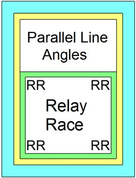 Parallel Line Angles - RELAY RACE GAME (Groups 2 or 4) 8 r