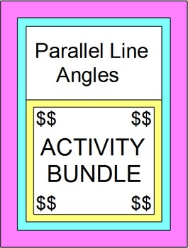 Parallel Line Angles - BUNDLE (Scav. Hunt,Part. Pairs, Powerp Game,Mazes,TASK)
