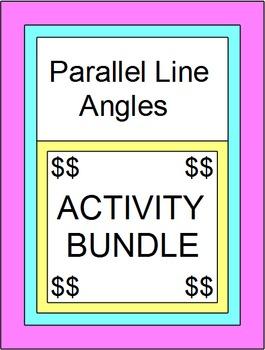 PARALLEL LINE ANGLES:  BUNDLE (75 DIGITAL TASK CARDS,SCAV HUNT,MAZES)