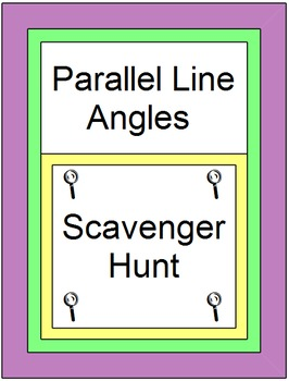 Parallel Line Angles Scavenger Hunt/Circuit (20 Problems)