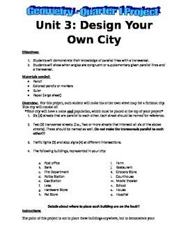 Parallel Line City Design Project