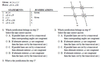 Parallel Line Proofs (Geometry)