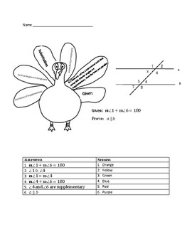 Parallel Line Proofs for Thanksgiving