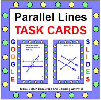 Parallel Line Angles - Task Cards (set of 20)