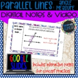 Parallel Lines & Angle Measure Digital Notes; Distance Lea