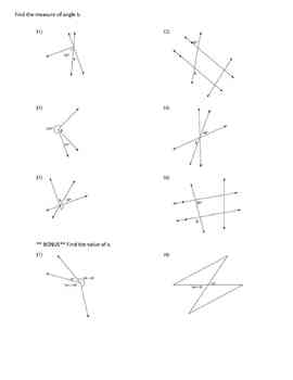 Parallel Lines Angle Relationships
