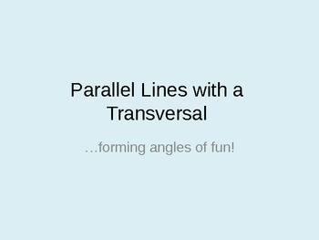 Parallel Lines Angle Relationships powerpoint