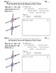 Parallel Lines Angles and Algebra Foldable with Exit Ticket