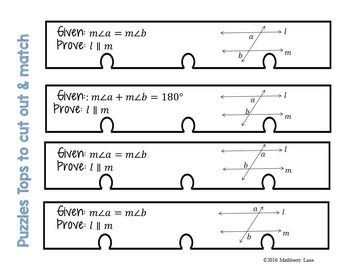 Parallel Lines Beginner Proof Puzzles Transversals Geometry