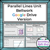 Parallel Lines Bellwork using Google Drive