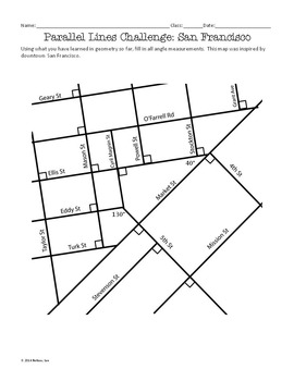 Parallel Lines Challenge Problems: Fun with Maps!