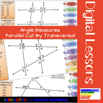 Parallel Lines Cut By A Transversal: Digital Interactives