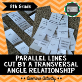 Parallel Lines Cut By A Transversal Domino Activity
