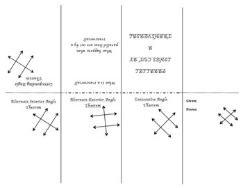 Parallel Lines Cut By A Transversal - Poof Book Foldable