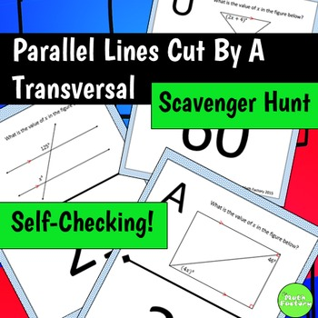 Parallel Lines Cut By A Transversal Scavenger Hunt
