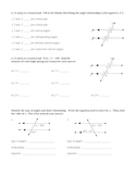 Parallel Lines Cut By Transversal