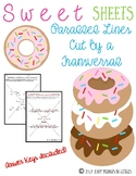Parallel Lines Cut By a Transversal {Sweet Sheets}
