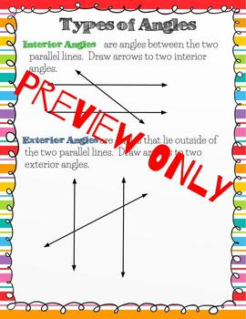 Parallel Lines Cut by Transversal Digital Interactive Notebook for Google