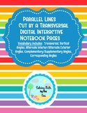 Parallel Lines Cut by Transversal Digital Interactive Note