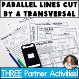 Parallel Lines Cut by a Transversal Activities! Partner Pack!