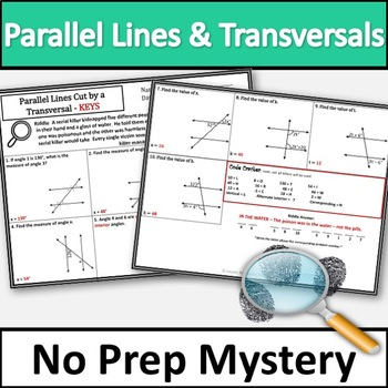 Parallel Lines Cut by a Transversal Activity!