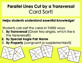 Parallel Lines Cut by a Transversal Card Sort - three ways