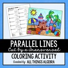 Parallel Lines, Transversals, and Angles - Coloring Activity