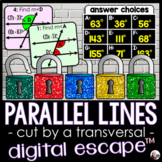 Parallel Lines Cut by a Transversal Digital Math Escape Room