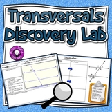 Parallel Lines Cut by a Transversal Discovery Lab