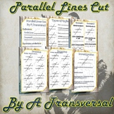 Parallel Lines Cut by a Transversal (Guided Notes and Practice)