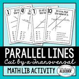 Parallel Lines Cut by a Transversal Math Lib