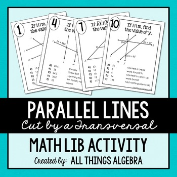 Parallel Lines Cut by a Transversal Math Lib