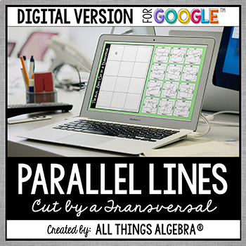 Parallel Lines Cut by a Transversal Puzzle - GOOGLE SLIDES