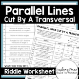 Parallel Lines Cut by a Transversal Riddle: 8.G.5