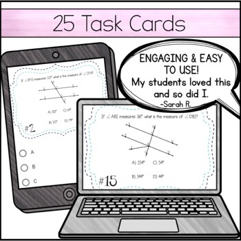 Parallel Lines Cut by a Transversal ~ Task Cards